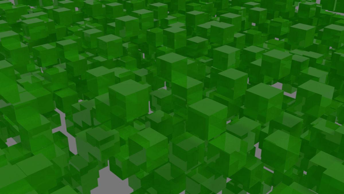 Green cubes sinus animation